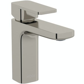 Mode Spencer square brushed nickel basin mixer tap