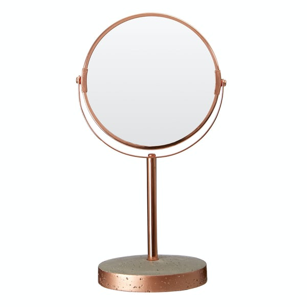 Neptune concrete and copper vanity mirror