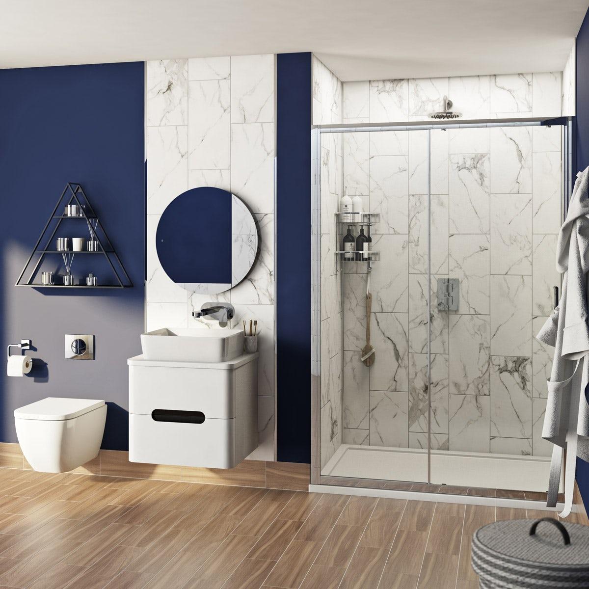 Mode Ellis Complete Bathroom Suite With Shower Door Tray