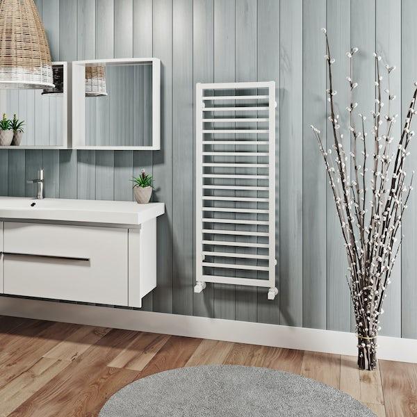 Mode Burton white heated towel rail 1150 x 450