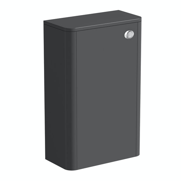 Mode Carter slate gloss grey back to wall toilet unit 500mm