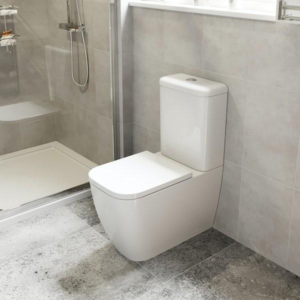 Mode Ellis close coupled toilet with soft close seat