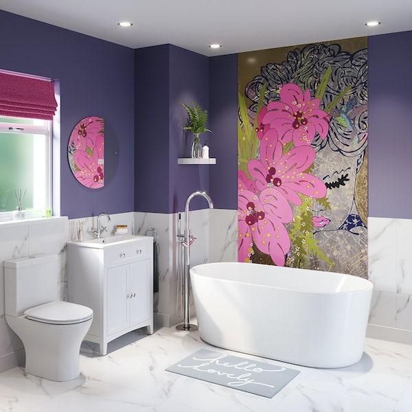 Louise Dear Love Affair freestanding bath suite 1500 x 700mm