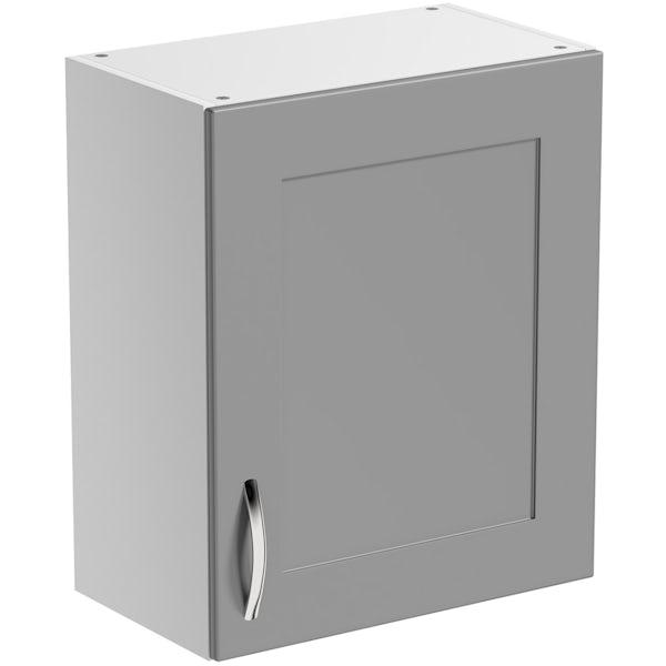 Schön New England light grey shaker wall unit
