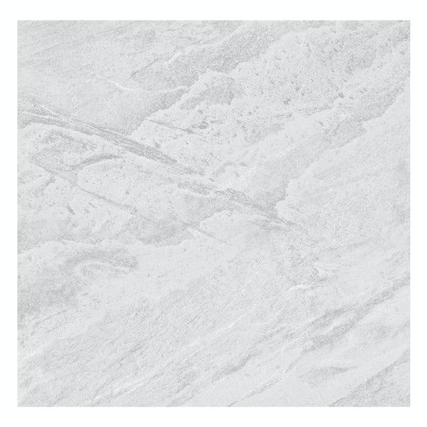 Laguna light grey stone effect matt wall and floor tile 600mm x 600mm