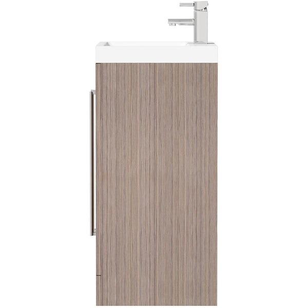 Wye walnut 600 vanity unit with basin