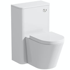 Main image for Mode Carter white back to wall unit and contemporary toilet with soft close seat
