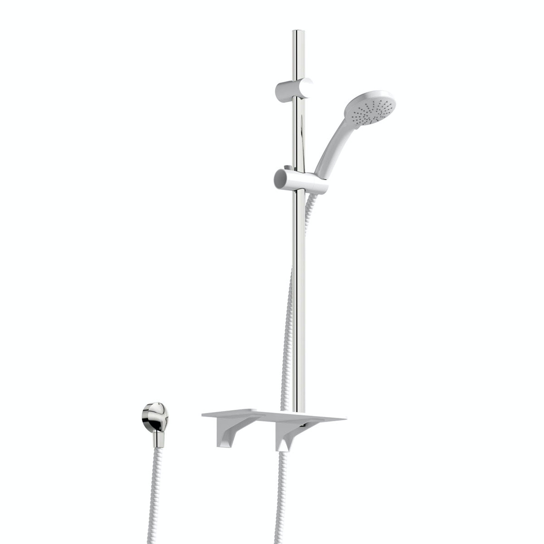 Orchard Pure sliding shower rail and shelf kit