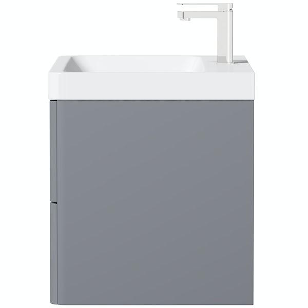 Mode Adler grey 800mm wall hung vanity unit and basin