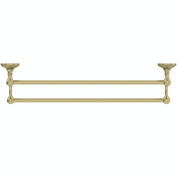 The Bath Co. 1805 gold double towel rail