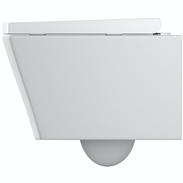 Mode Austin wall hung toilet with soft close seat