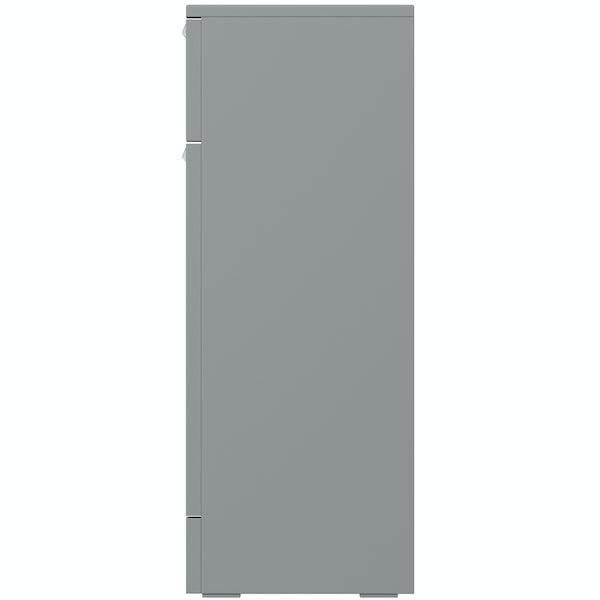 Orchard Elsdon stone grey slimline storage unit 300mm