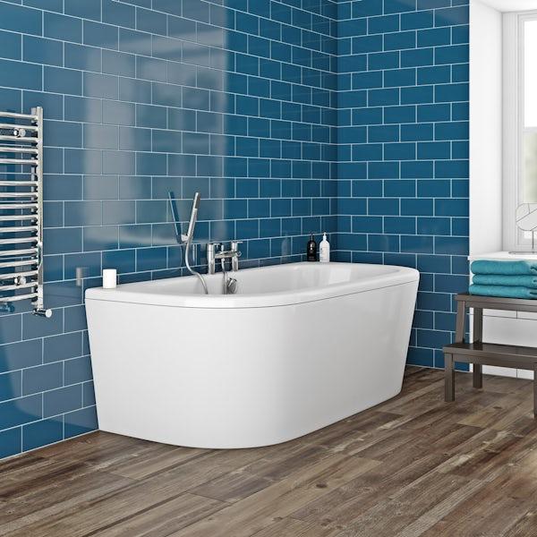 Orchard Elsdon D shaped acrylic bath panel