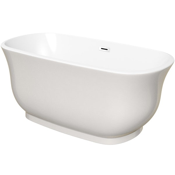 The Bath Co. Camberley pearl coloured traditional freestanding bath 1500 x 720 offer pack