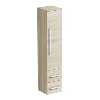 Orchard Wye oak wall hung cabinet 1607 x 326mm