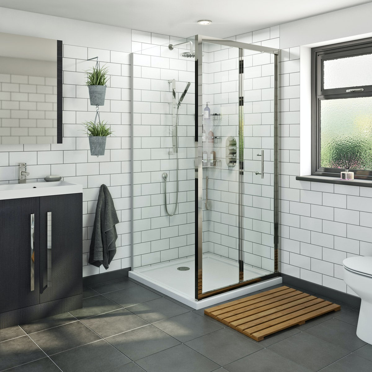 Orchard 6mm bifold square shower enclosure