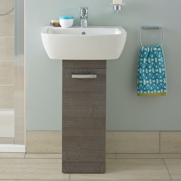 Ideal Standard Tempo sandy grey pedestal unit with basin 550mm