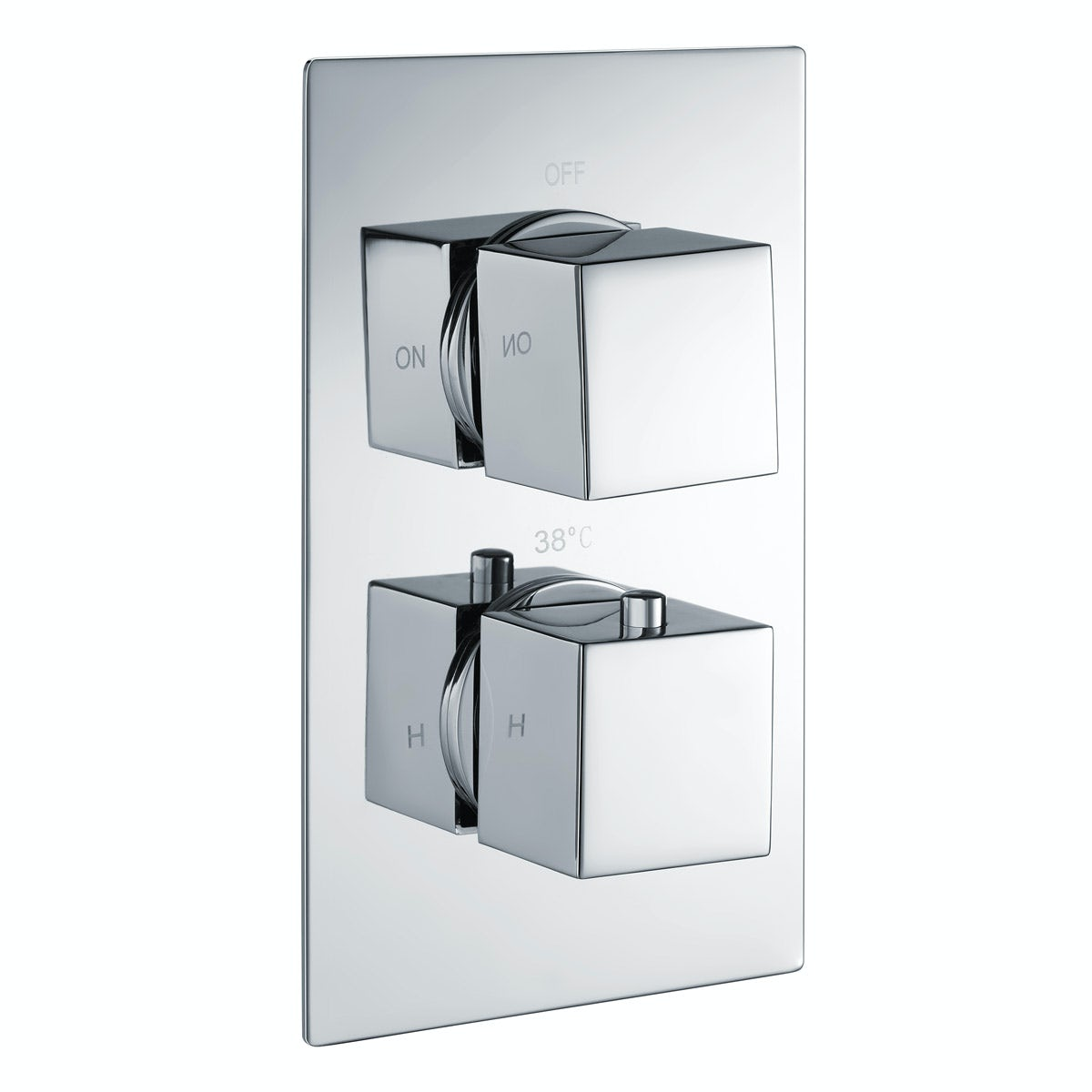 Kirke Connect twin thermostatic shower valve