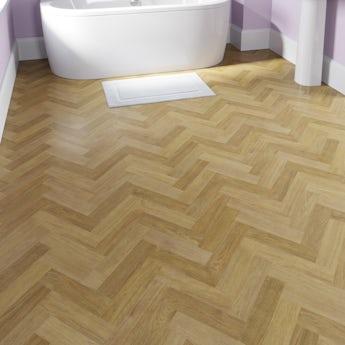 Faus Herringbone Natural moisture resistant click flooring 8mm