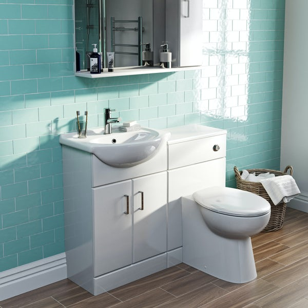 Orchard Eden white 1060mm combination with Clarity back to wall toilet and seat