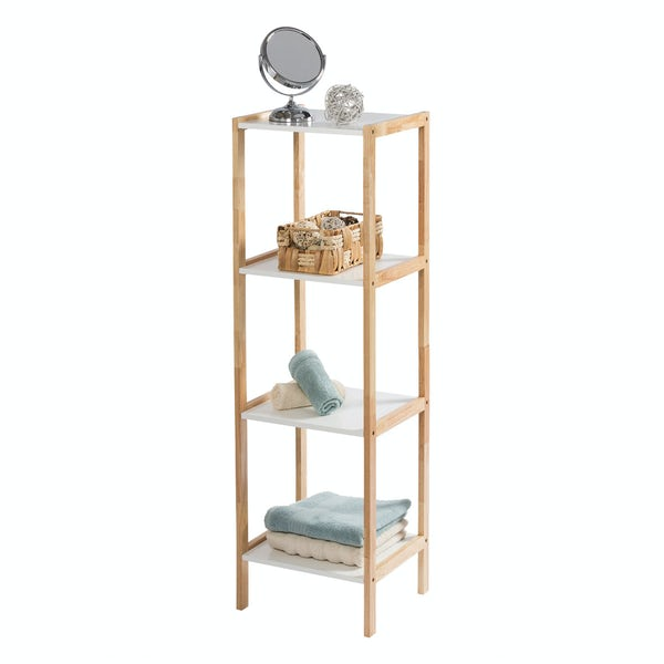 Showerdrape Faro four tier rectangular shelf unit