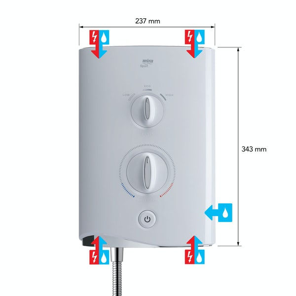 Mira Sport Multi-fit 9.0kw electric shower