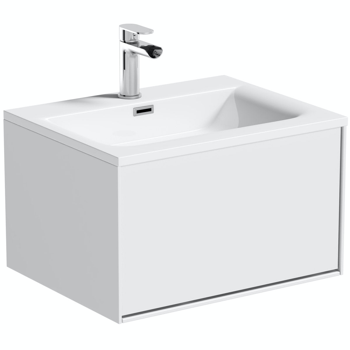 Mode Burton white wall hung vanity unit 600mm
