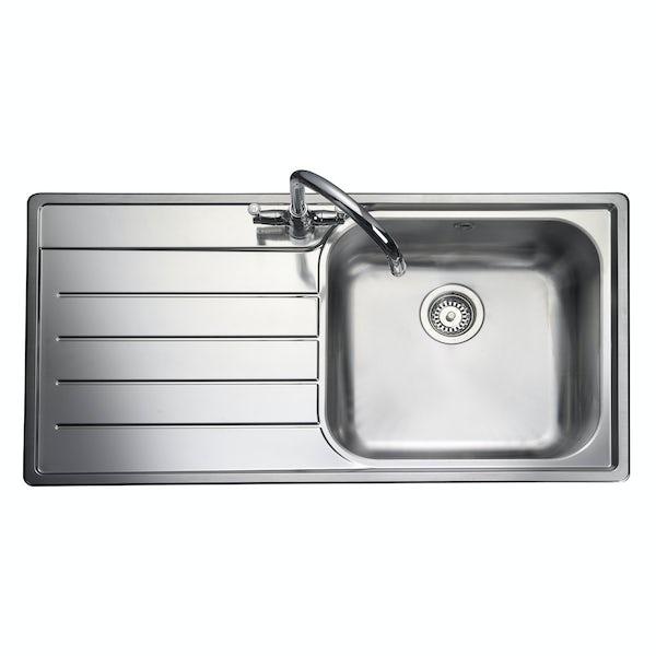 Rangemaster Oakland 1.0 bowl left handed kitchen sink