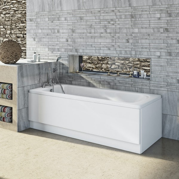 Orchard single ended steel bath 1700 x 700