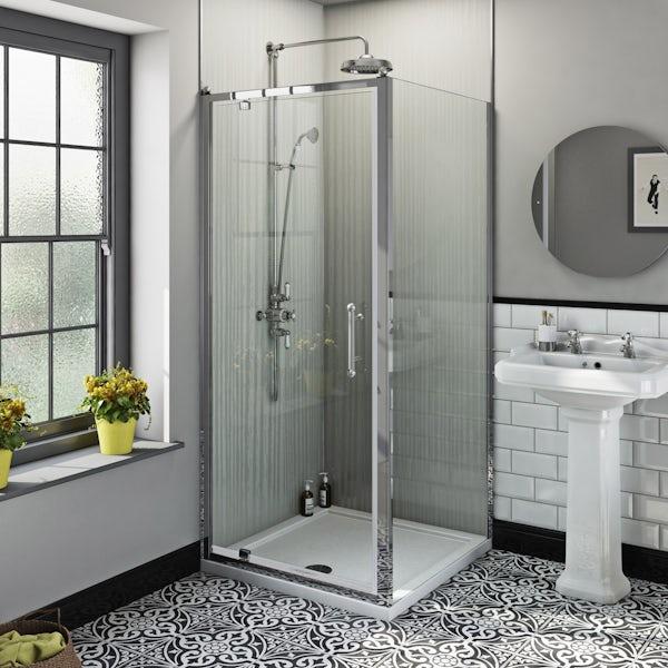 The Bath Co. Winchester traditional 6mm square pivot shower enclosure