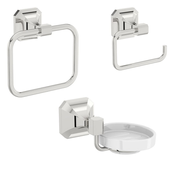 The Bath Co. Camberley 3 piece cloak room accessory set
