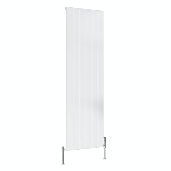 Reina Casina white single vertical aluminium designer radiator