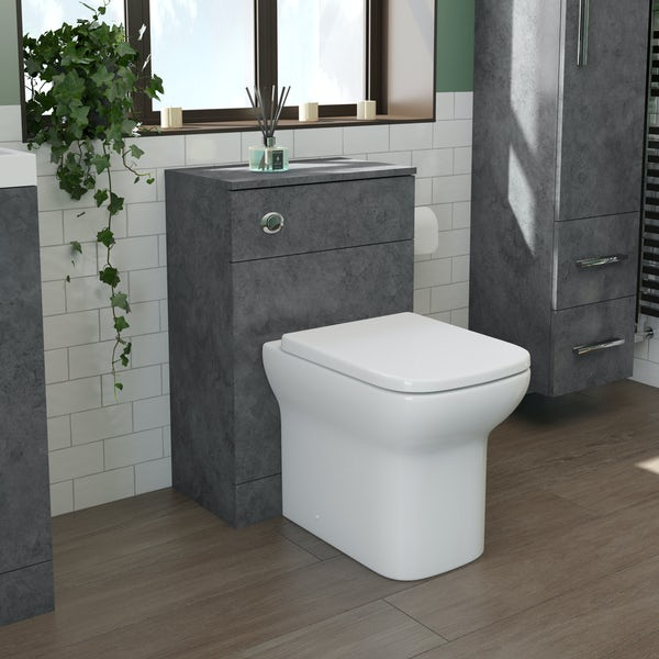 Orchard Kemp back to wall unit and Lune rimless toilet with soft close seat