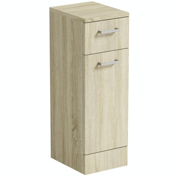 Orchard Eden oak slimline linen basket unit 766 x 250mm