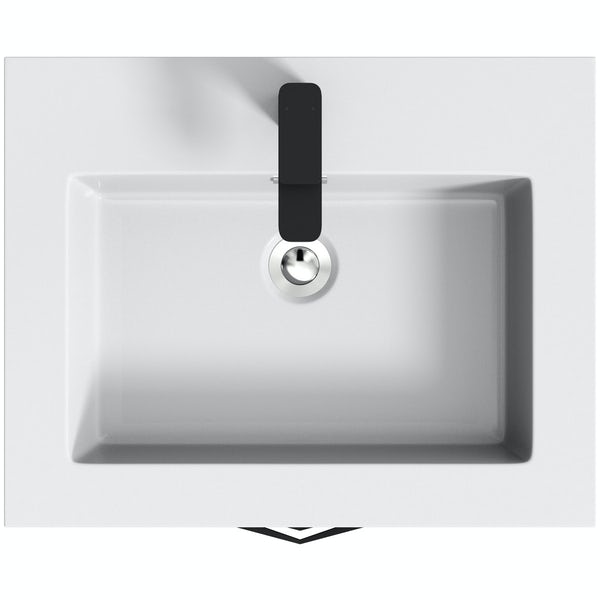 Mode Meier grey wall hung vanity unit and basin 600mm