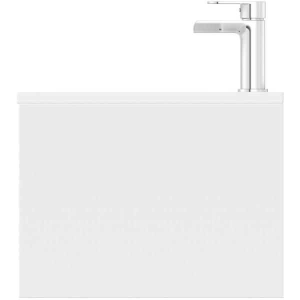Mode Burton ice stone wall hung vanity unit 600mm