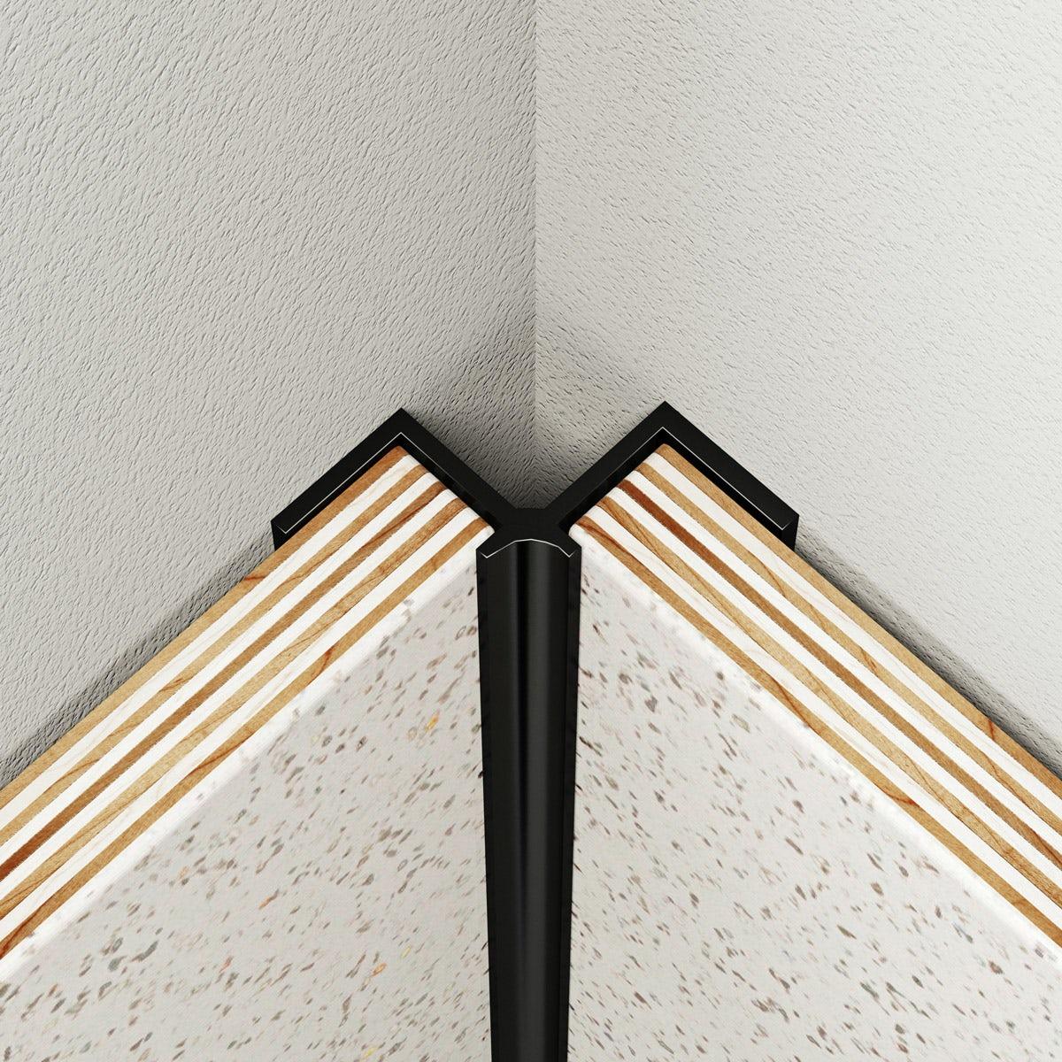 Multipanel Classic type A black internal corner profile