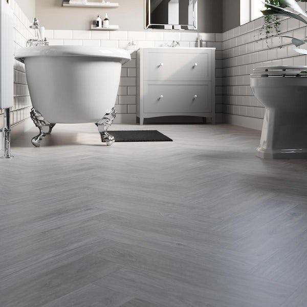 Cedar silver elder herringbone water resistant laminate flooring 8mm