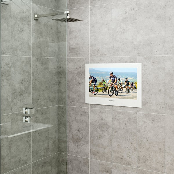 ProofVision 24 inch white bathroom TV
