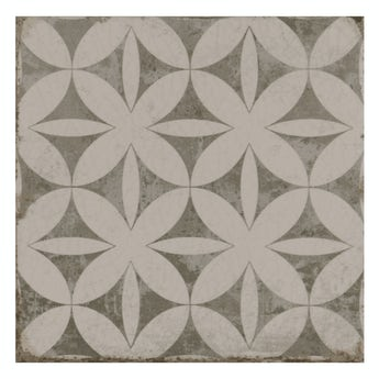 The Bath Co. Aragon geo grey matt wall and floor tile 200mm x 200mm