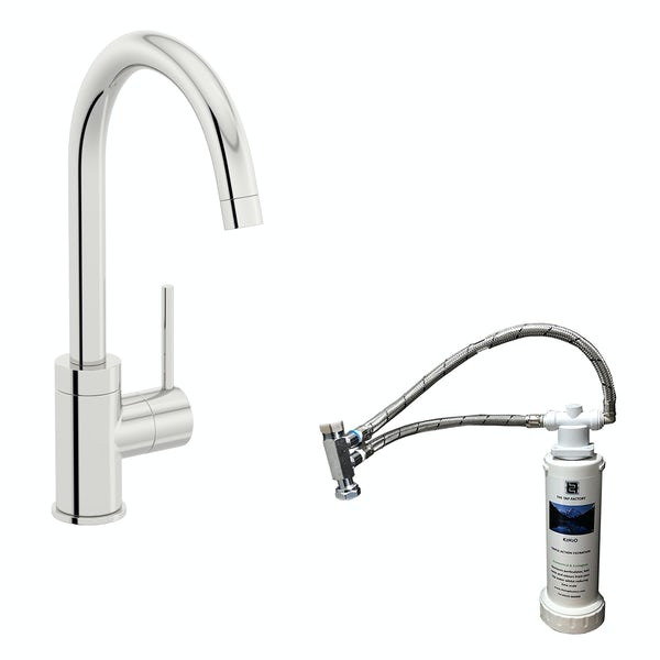 Schön WRAS kitchen mixer tap with complete filter kit