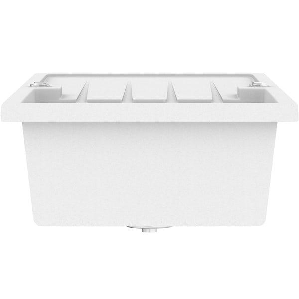 Schön Bosa chalk white 1.0 bowl reversible kitchen sink