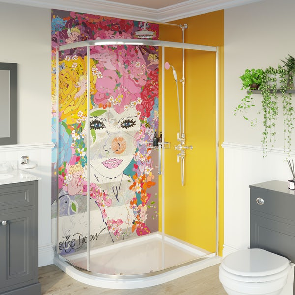 Artist Collection Honey Yellow acrylic shower wall panel 2440 x 900mm