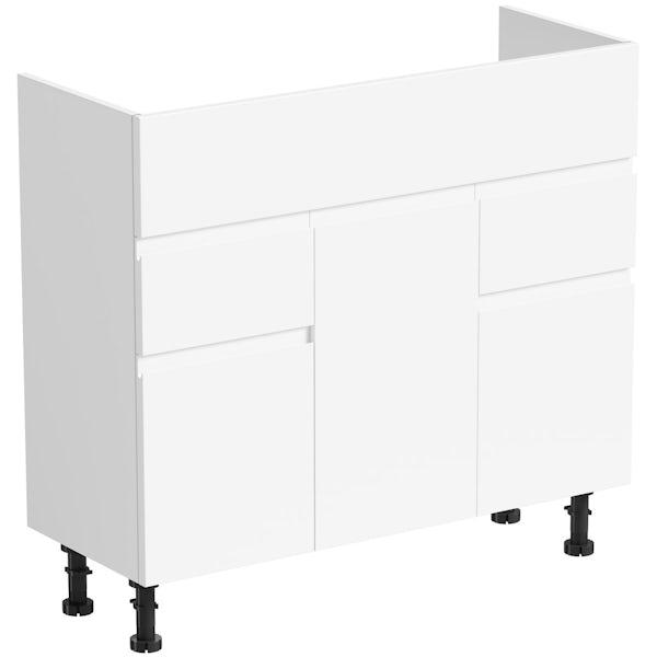 Orchard Wharfe white vanity unit 850mm