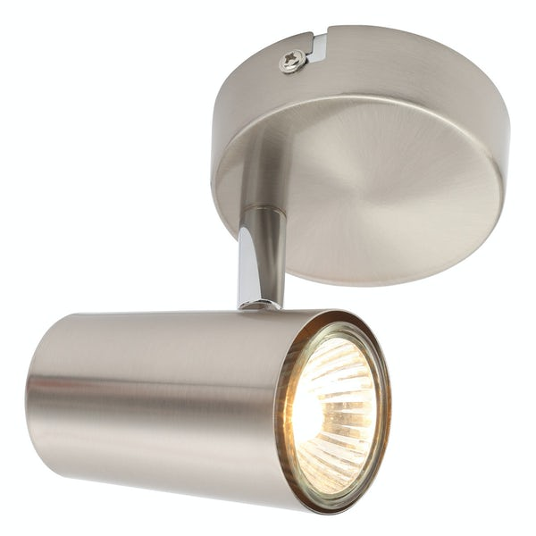 Forum Chara satin nickel 1 light kitchen ceiling light