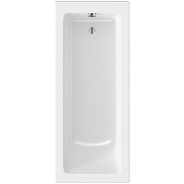 Orchard square edge single ended reinforced bath 1700 x 700