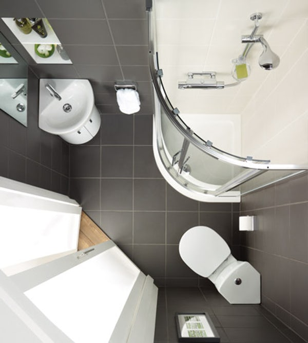 Ideal Standard Concept Space white wall corner basin unit