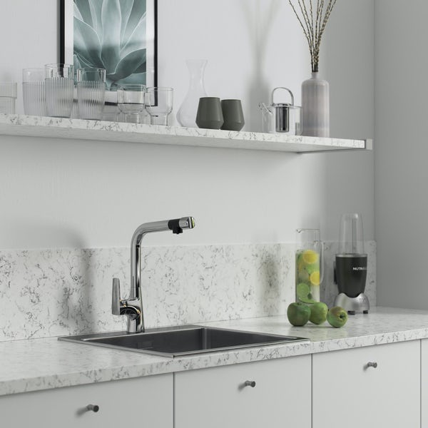Bristan Gallery Pure single lever kitchen mixer tap with filter
