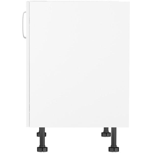 Schon Boston white double door slab base unit