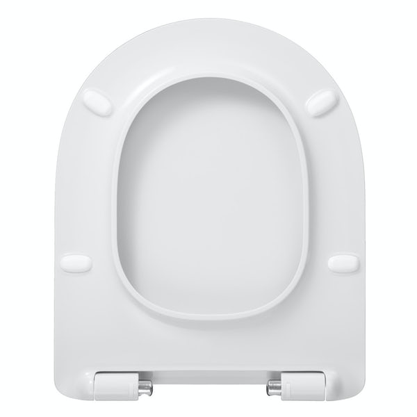 Mode slim design thermoset soft close seat with quick release functionality